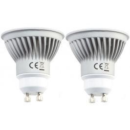 Tesla LED žárovka GU10, 7W, teplá bílá, 2pack