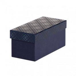 Dárková krabice Jana 1, tmavě modrá kára - 22x10x10 cm