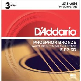Daddario EJ17-3D Kovové struny pro akustickou kytaru