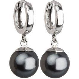 Evolution Group Stříbrné náušnice s perlou 31151.3 grey stříbro 925/1000