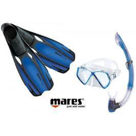 Mares Sada PIRAT maska, šnorchl s ploutvemi 31/33 modrá