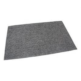 FLOMAT Šedá textilní vstupní rohož Circles - 75 x 45 x 1 cm