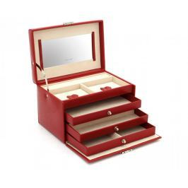 Friedrich Lederwaren Šperkovnice červená/béžová Jolie 23255-40