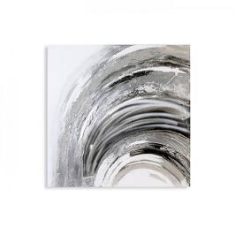 Papillon Obraz Wave s hliníkovou aplikací, 80x80 cm, olej na plátně