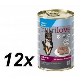 Nutrilove dog paté SALMON 12 x 400g