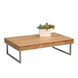 Artenat Konferenční stolek Inga, 120 cm, masiv/nerez