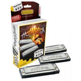 Hohner Hot Metal ValuePack (C-, G-, A-major) Sada foukacích harmonik