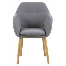 Design Scandinavia Jídelní / jednací židle s područkami Milla, šedá