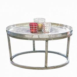 Papillon Konferenční stolek s hliníkovou deskou Raw, 70 cm