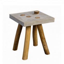 Artenat Konferenční / odkládací stolek Quinn, 40 cm, teak/beton