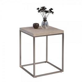 Artenat Odkládací stolek Olaf, 40 cm, beton/nerez