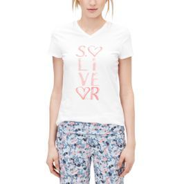 s.Oliver dámské tričko na spaní 40 smetanová