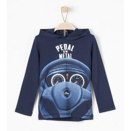 s.Oliver chlapecké triko s volantem 104/110 modrá