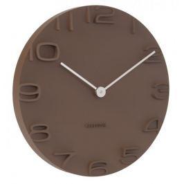 Karlsson Nástěnné hodiny KA5311 hnědá - II. jakost