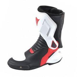 Dainese boty dámské NEXUS LADY vel.37 černá/bílá/červená (lava), kůže/textil (pár)