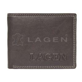 Lagen Pánská hnědá kožená peněženka Brown 614788-2