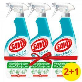 Savo Víceúčelový dezinfekční sprej bez chloru 3 x 700 ml