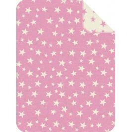 s.Oliver dětská deka jacquard hvězdičky růžová