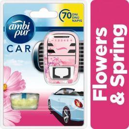 Ambi Pur Car Flowers & Spring Osvěžovač ve startovací sadě 7 ml
