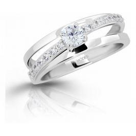 Modesi Stříbrný prsten se zirkony M11105 (Obvod 52 mm) stříbro 925/1000