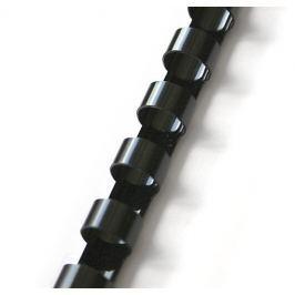 Hřbet pro kroužkovou vazbu 16 mm černý / 100 ks