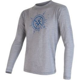 Sensor Merino Wool Pt Kompas pánské triko dl.ruk. Šedá XL