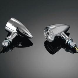Highway-Hawk moto blinkr 38mm  TECHNO s LED, E-mark, chrom (1ks)