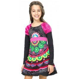 Desigual dívčí šaty 104 vícebarevná