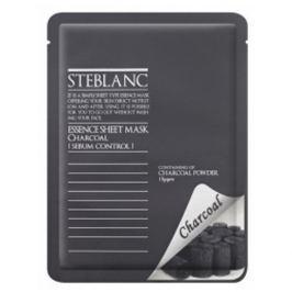 Steblanc Čisticí pleťová maska pro mastnou pleť Dřevěné uhlí (Essence Sheet Mask Charcoal) 20 g