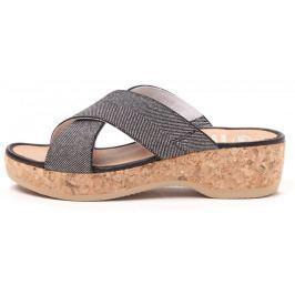 Scholl dámské pantofle Tansy 37 stříbrná