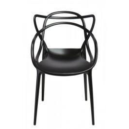 Mørtens Furniture Jídelní židle s područkami Minster, černá