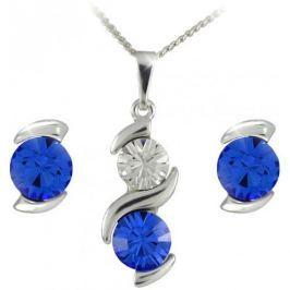 MHM Souprava šperků Sisi Sapphire 34148 stříbro 925/1000