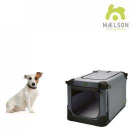 Maelson Přepravka Soft Kennel s popruhy černá / šedá vel. 52