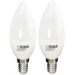 Tesla LED žárovka CANDLE svíčka, E14, 5,5W 2pack