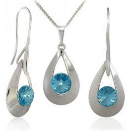 MHM Souprava šperků Karen 2 Aquamarine 34167 stříbro 925/1000