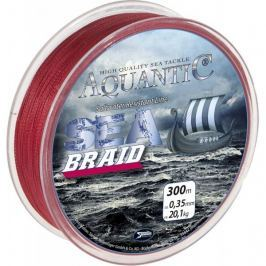 Saenger Aquantic Pletená Šňůra Sea Braid Červená 300 m 0,18 mm, 9,2 kg