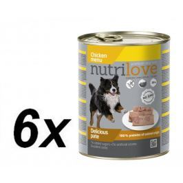 Nutrilove Dog paté CHICKEN 6 x 800g