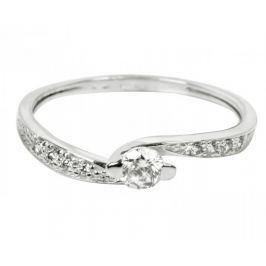 Brilio Dámský prsten s krystaly 229 001 00458 07 - 1,55 g (Obvod 56 mm) zlato bílé 585/1000