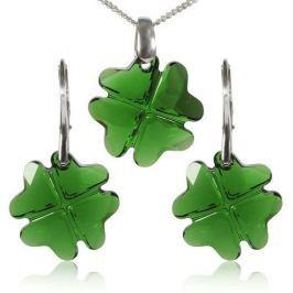 MHM Souprava šperků Clover Dark Moss Green 34199 stříbro 925/1000