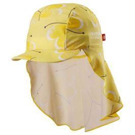 Reima Dětská čepice proti slunci Octopus UV 50+ 44/46 žlutá