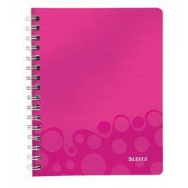 Blok na psaní Leitz WOW A5 čtverečkovaný metalicky růžový