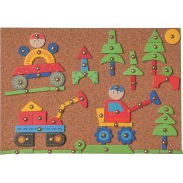 Woody Deska s přibíjecími tvary - Auta