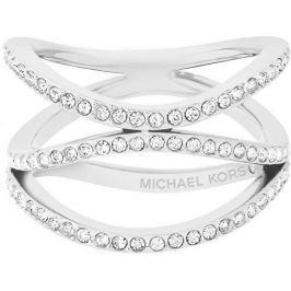 Michael Kors Ocelový ocelový prsten s krystaly MKJ6639040 (Obvod 56 mm)
