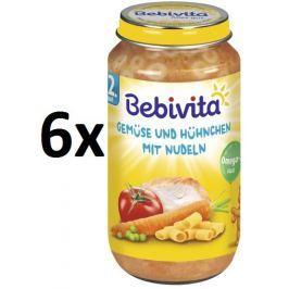 Bebivita Zelenina s kuřecím masem a nudlemi - 6 x 250g