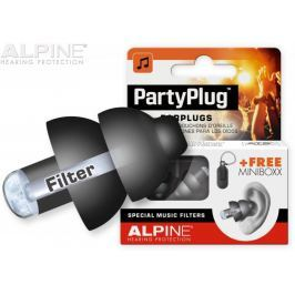 Alpine PartyPlug Black Špunty do uší