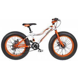 Coppi Fat bike bílá/oranžová