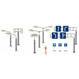 SIKU World - příslušenství dopravní značky a pouliční lampy