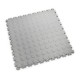Fortelock Šedá plastová vinylová dlaždice Light 2080 (penízky) - 51 x 51 x 0,7 cm