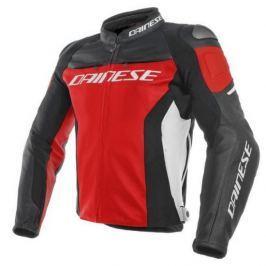 Dainese bunda RACING 3 vel.48 červená/černá/bílá, kůže