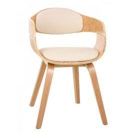 BHM Germany Jídelní / jednací židle dřevěná Kingdom (SET 2 ks), krémová